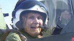 2차대전에 참전했던 92세의 여성