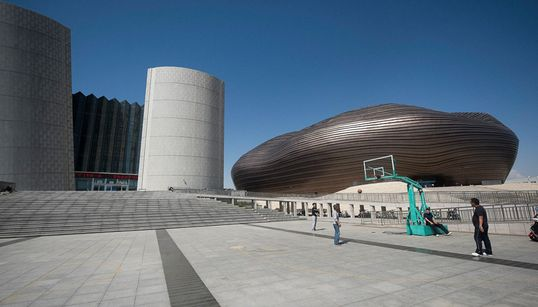 중국 사막의 미래 도시 오르도스의