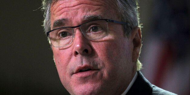 Former Florida Gov. Jeb Bush attends an event at the Metropolitan University in San Juan, Puerto Rico,...