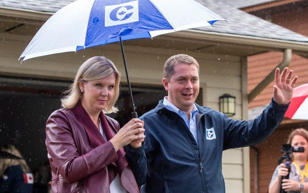 Conservative Leader Andrew Scheer attends a campaign event in Surrey, B.C., on