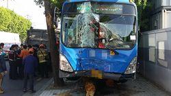 대구, 술 덜 깬 버스 기사 인도로