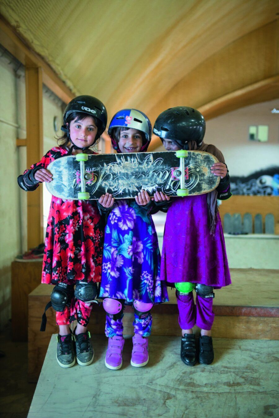 스케이트보드를 타는 아프가니스탄의