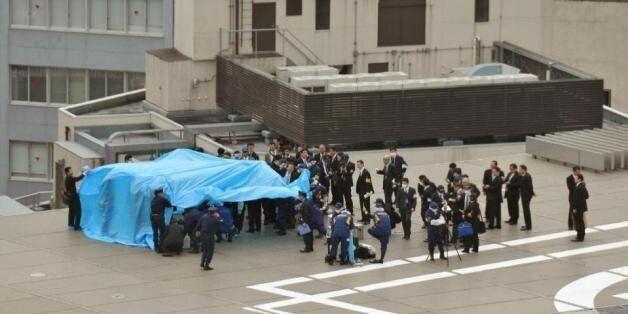 일본 총리 관저 옥상에서 발견된