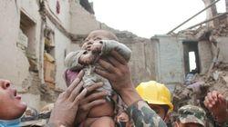네팔 대지진에서 극적 구조된 생후 4개월