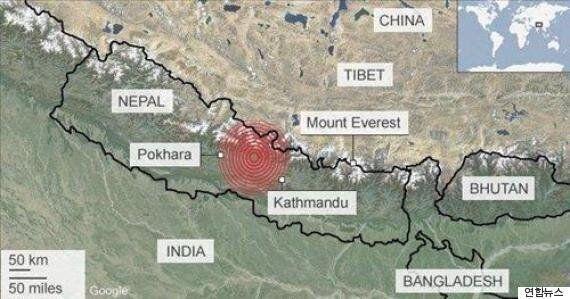 프랑스 과학자들 1개월 전 네팔 대지진