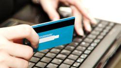플라스틱 실물 없는 신용카드