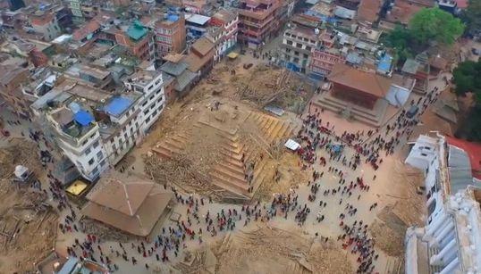 [네팔 대지진] 드론으로 촬영한 참사