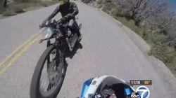 오토바이 정면 충돌이 고프로에