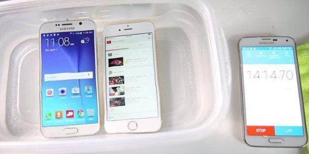 갤럭시S6 vs 아이폰6 방수
