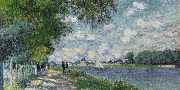 This undated photo provided by Sotheby's auction house shows the painting