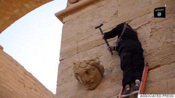 고대도시 유적 파괴하는 IS(동영상,