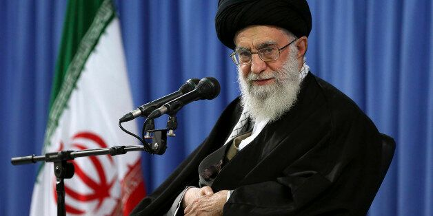 In this picture released by an official website of the office of the Iranian supreme leader, Supreme...