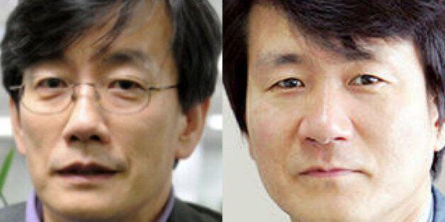손석희 JTBC 보도부문 사장(왼쪽), 박래용 경향신문
