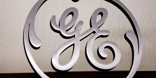 FILE- This Dec. 2, 2008, file photo, shows a General Electric (GE) logo on display at Western Appliance...