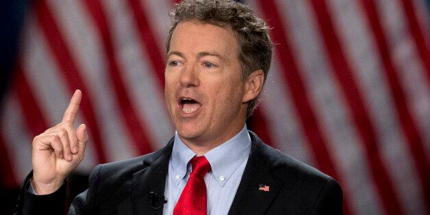 Sen. Rand Paul, R-Ky. announces the start of his presidential campaign, Tuesday, April 7, 2015, at the...