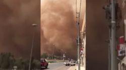 사우디아라비아의 모래 폭풍은
