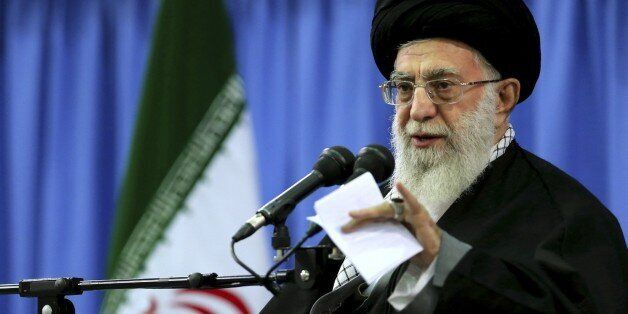 In this photo released by an official website of the office of the Iranian supreme leader, Supreme Leader...