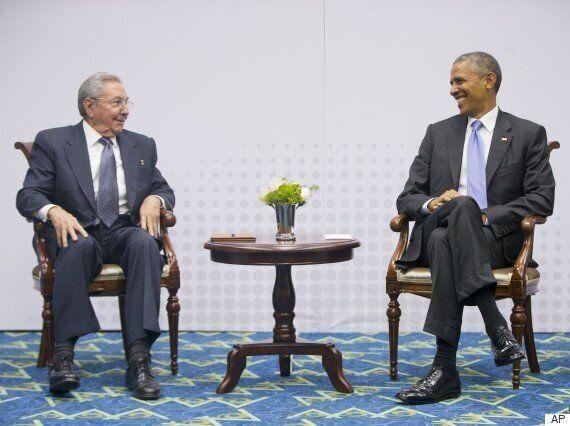 오바마-카스트로 '역사적 회동'...미·쿠바 정상 59년만의