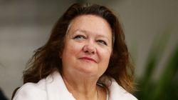 호주 女 광산재벌 라인하트, 재산 3년만에 절반이하