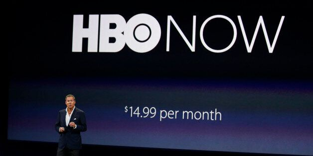 FILE - In this March 9, 2015 file photo, Richard Plepler, CEO of HBO, talks about HBO Now for Apple TV...