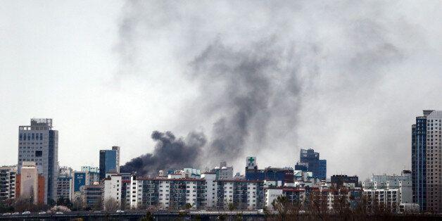 강남 삼성동 아파트 옥상서