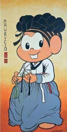 브라질 국민 만화캐릭터로 다시 태어난 신윤복의