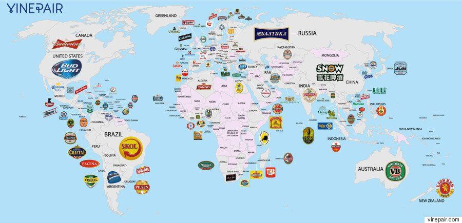 각 나라에서 가장 유명한 맥주를 한방에 정리해주는