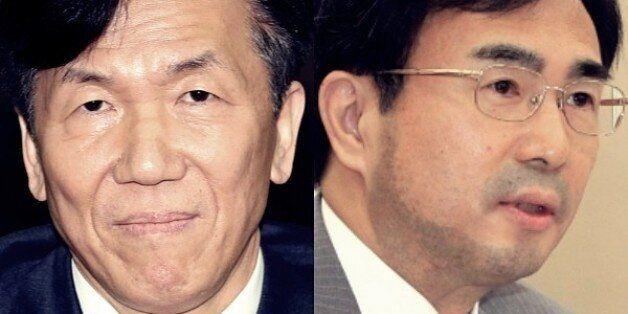 하창우 대한변호사협회장(왼쪽)과 차한성 전