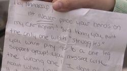 '야 장애인아', 주차 문제로 비하 편지를 받은