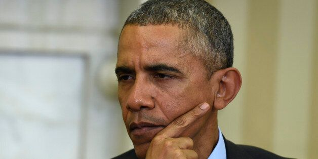 President Barack Obama listens during his meeting with European Council President Donald Tusk, Monday,...