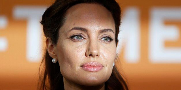 U.S. actress Angelina Jolie, special envoy of the United Nations High Commissioner for Refugees, poses...