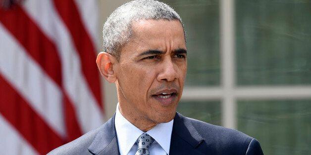 President Barack Obama speaks in the Rose Garden of the White House in Washington, Thursday, April 2,...