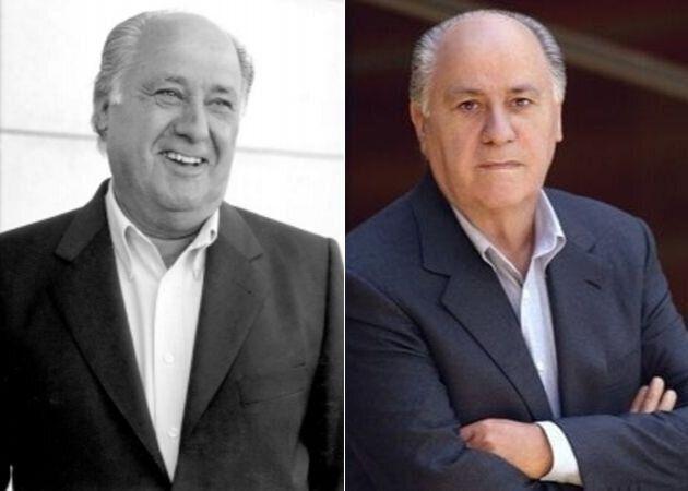 Las fotos oficiales de Amancio Ortega en 2000 y 2003.