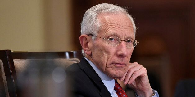Federal Reserve Vice Chairman Stanley Fischer listens during a meeting of the Board of Governors of the...