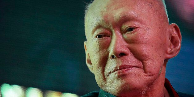 FILE - In this March 20, 2013 file photo, Singapore's first Prime Minister Lee Kuan Yew attends the Standard...