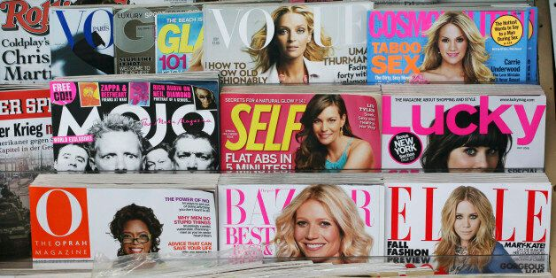 Magazines are shown on a newsstand on Tuesday, June 17, 2008 in New York. Magazines - like television...