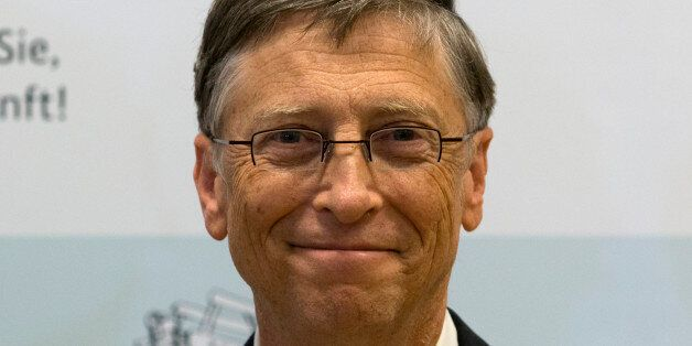 Bill Gates, founder of the software company Microsoft, poses for the media prior to a press conference...
