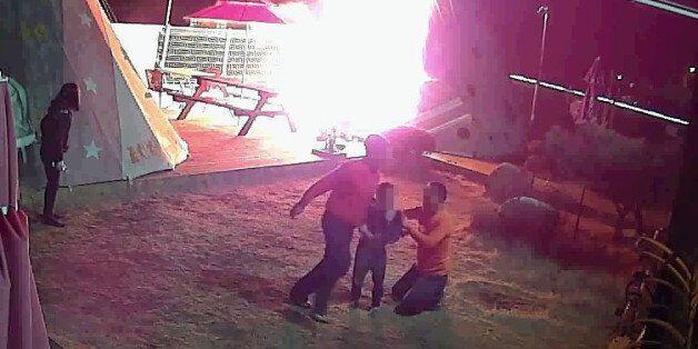 '3분 만에 활활' CCTV로 본 캠핑장 화재