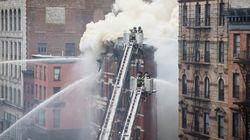 맨해튼 빌딩 폭발음과 함께 화재(사진,