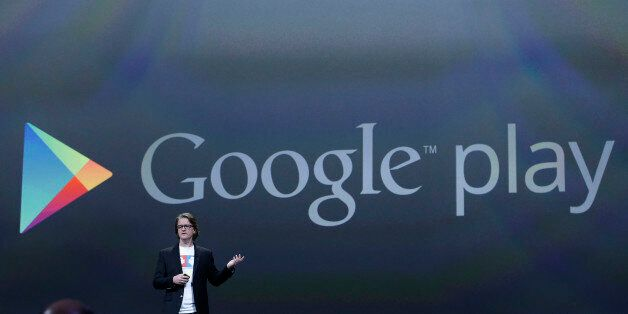 FILE - This May 15, 2013 file photo, Chris Yerga, engineering director of Android, speaks about Google...