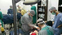 시리아의 포위된 병원, 잠자는 것도 쉬는 것도