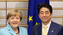 메르켈 '역사 발언'에 엇갈린 일본