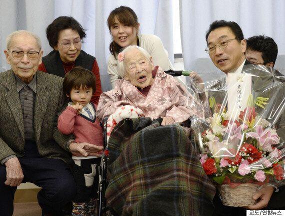 세계 최고령 일본 할머니 117세 생일