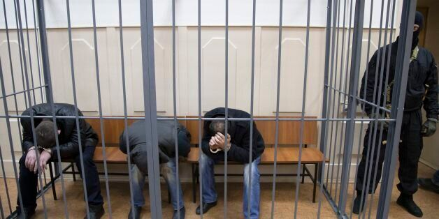Three men, from the left: Tamerlan Eskerkhanov, Shagid Gubashev and Khamzad Bakhaev suspected of involvement...