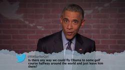 오바마, 자신을 비웃는 악성 트윗을