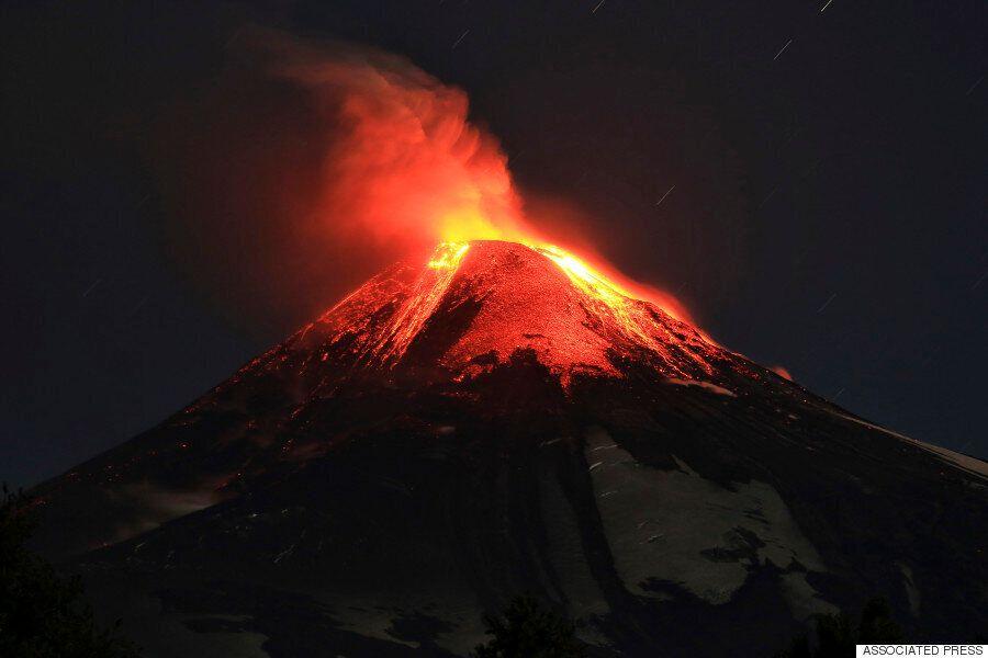 칠레 비야리카 화산 대폭발(사진,