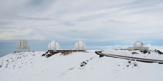 'The Mauna Kea observatories in Hawaii, in the