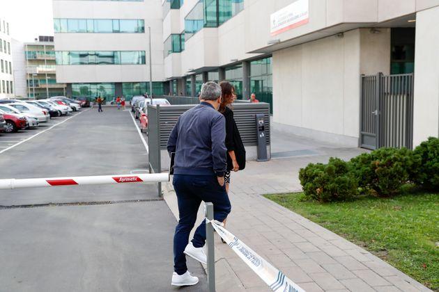 El presentador Miki Nadal a su llegada al Juzgado de Violencia contra la Mujer de