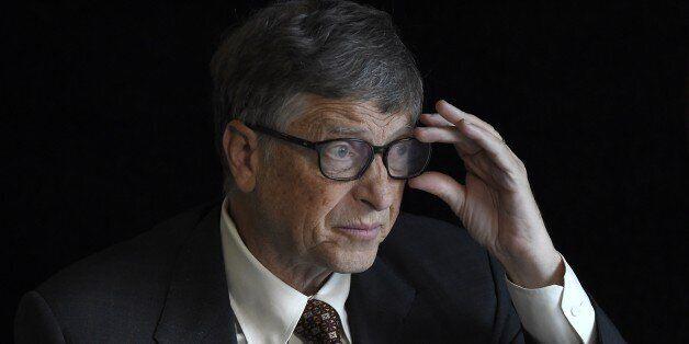 TO GO WITH AFP STORY BY DEBORAH COLE - US billionaire philanthropist Bill Gates of the Bill & Melinda...