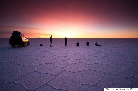 우유니 사막에서 '점프샷'만 찍을